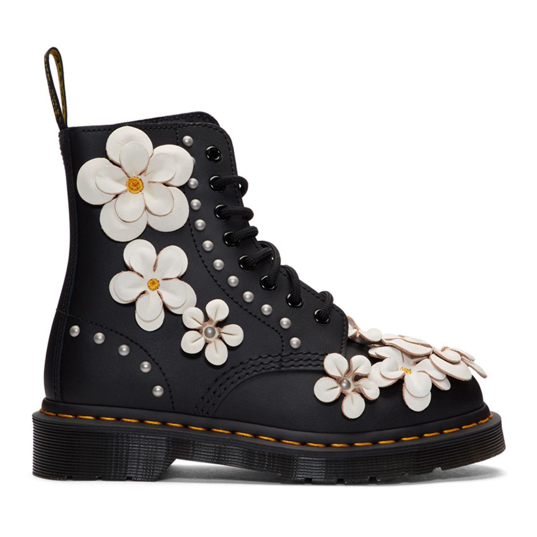 1fa1e91f35e8 Dr. Martens - Pink Reflective Metallic Pascal Lace-Up Boots