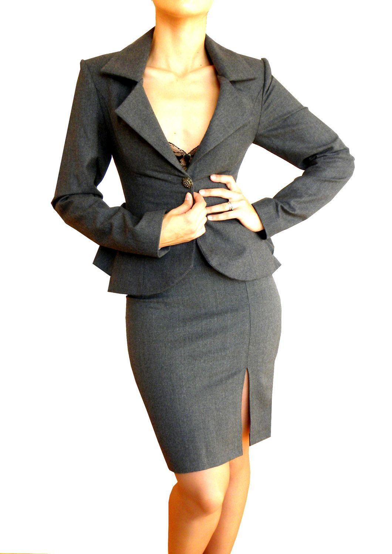 New Women Blazer Skirt Suit Sold Seperately 4 Sizes 3 Colour Dress Jacket Coat