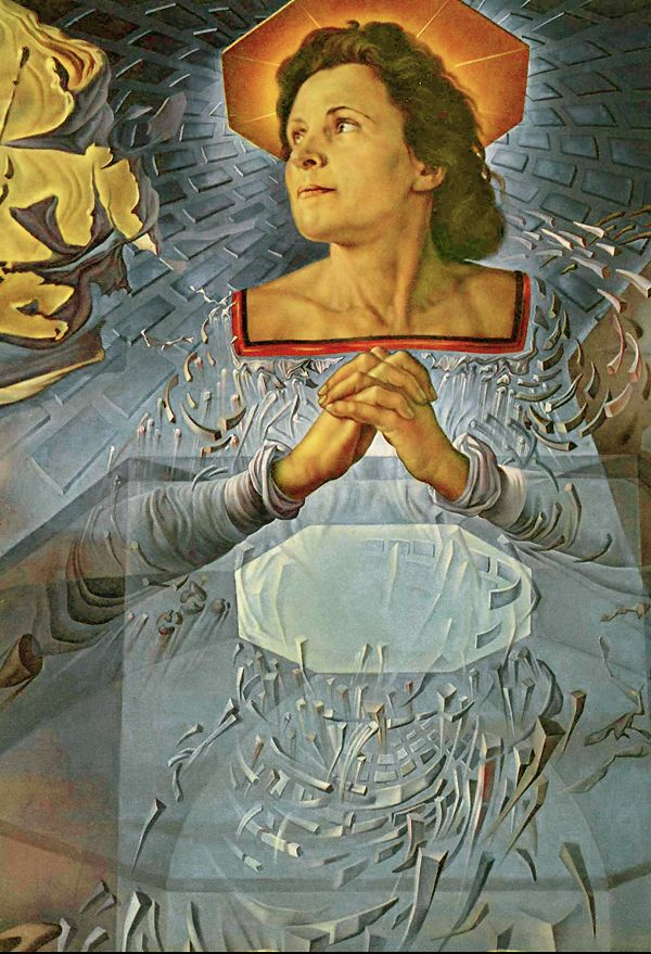 salvador dali a detail from dalis painting his wife gala posed for mary