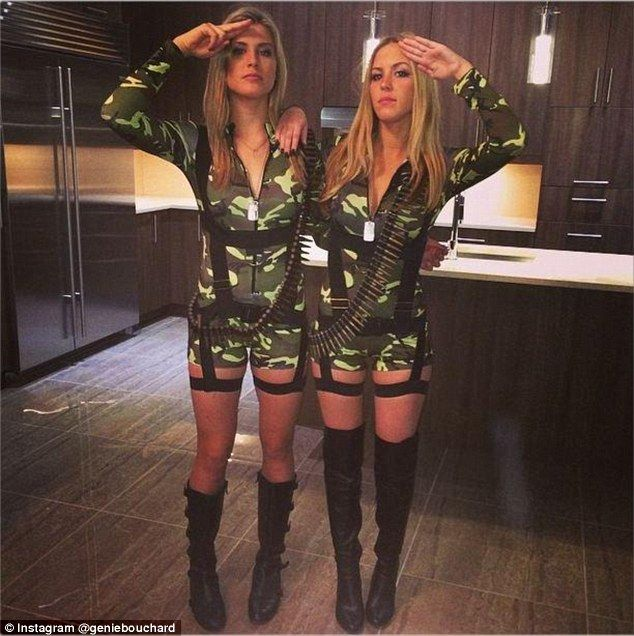 Genie Bouchard Halloween Costume 2020 Reporting for duty! Tennis star Bouchard dresses up for TWO nights