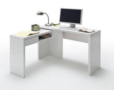 lack schreibtisch kombination mario office arbeitszimmer b ro schreibtisch wei m bel. Black Bedroom Furniture Sets. Home Design Ideas