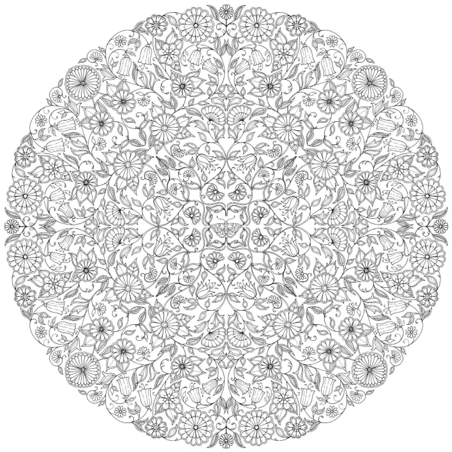 coloriage adulte a imprimer - Coloriage Mandala Adulte