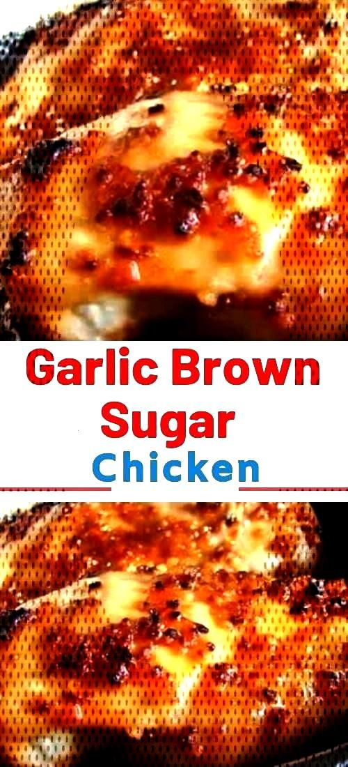 Garlic Brown Sugar Baked Chicken – Juicy, beyond DELICIOUS oven baked chicken breasts full of fla