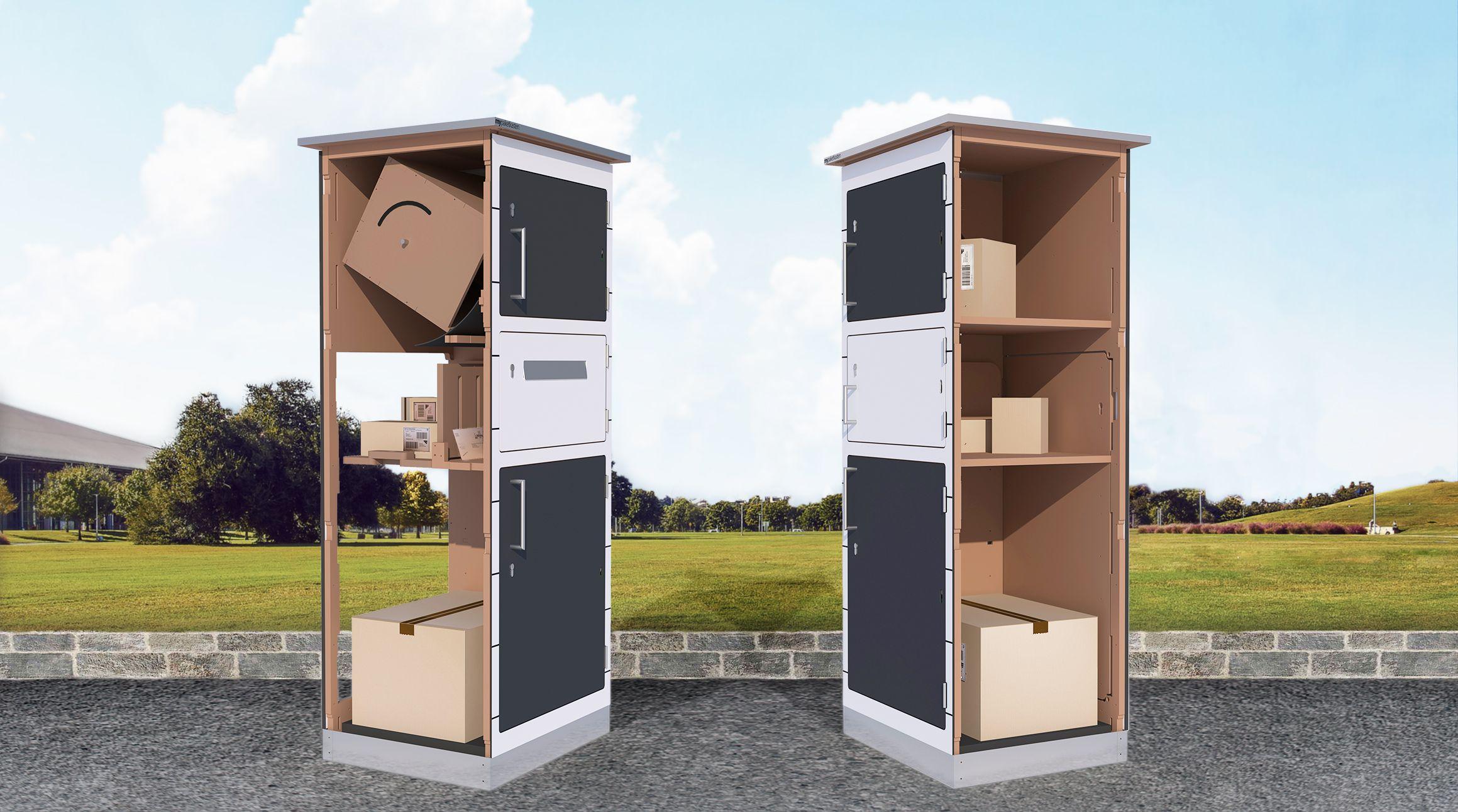 Paketbox Prinzip Paketkasten Paketbriefkasten Briefkasten Freistehend