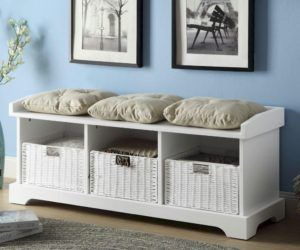 Exceptional Wooden Bench With Storage Underneath