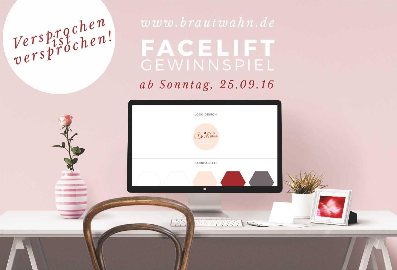 Facelift Feiern und Verlobungsshooting gewinnen! Alle Infos ab 25.09.16  auf www.brautwahn.de