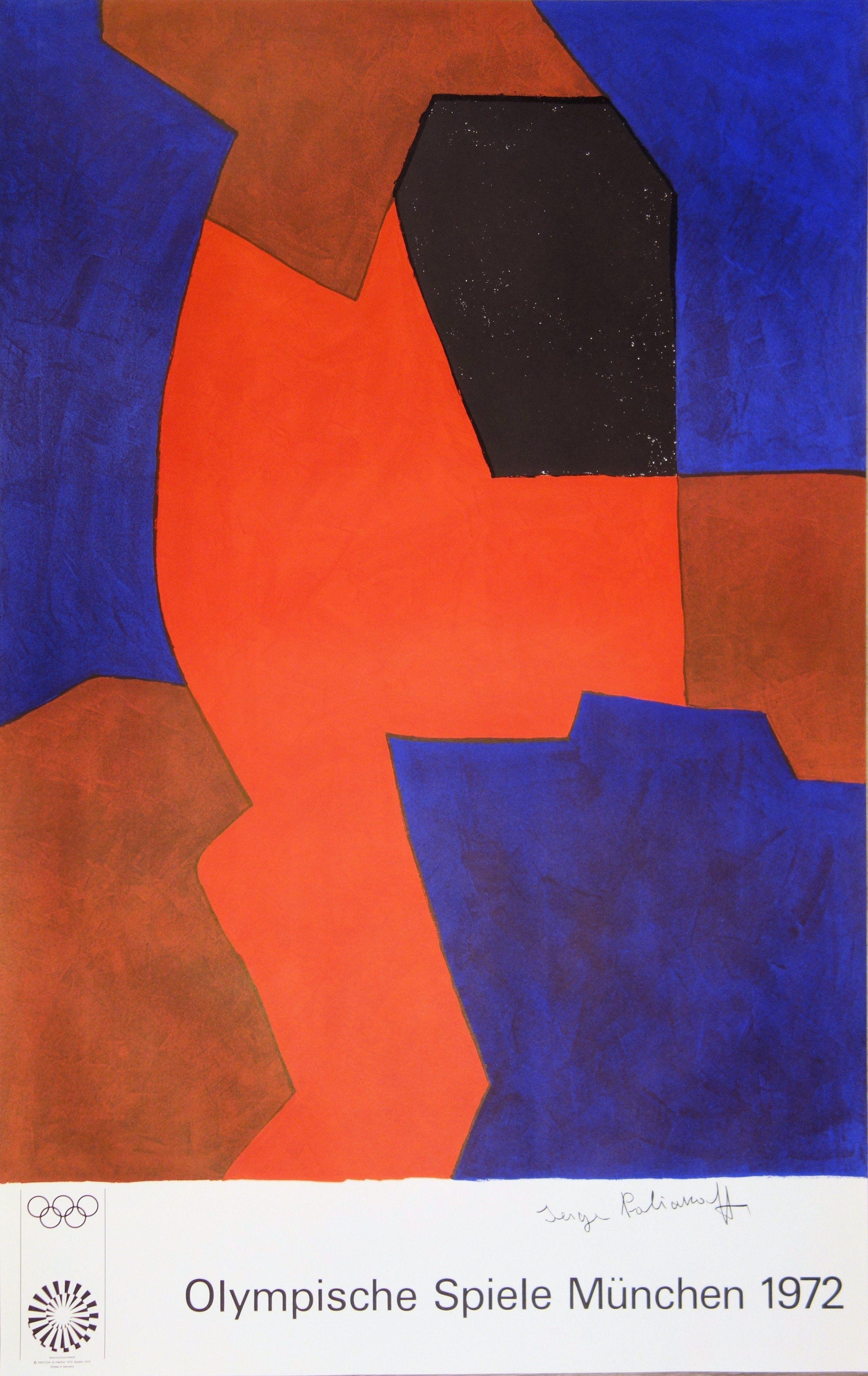 Serge Poliakoff (19001969) Composition Rouge et Noir