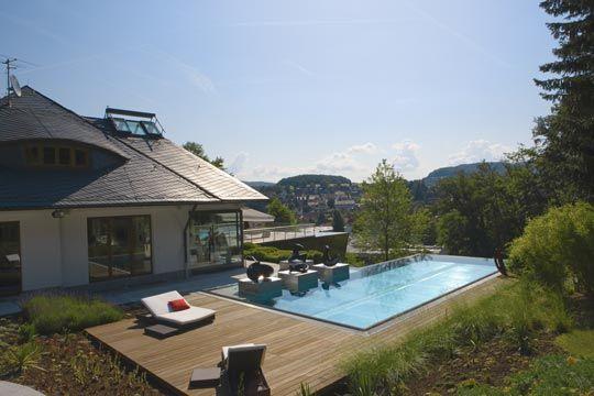 pool mit holzumrandung - Google-Suche Piscinas Pinterest House - gartengestaltung reihenhaus pool