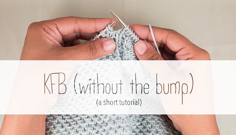 How to increase without the purl bump! Yarn tutorials