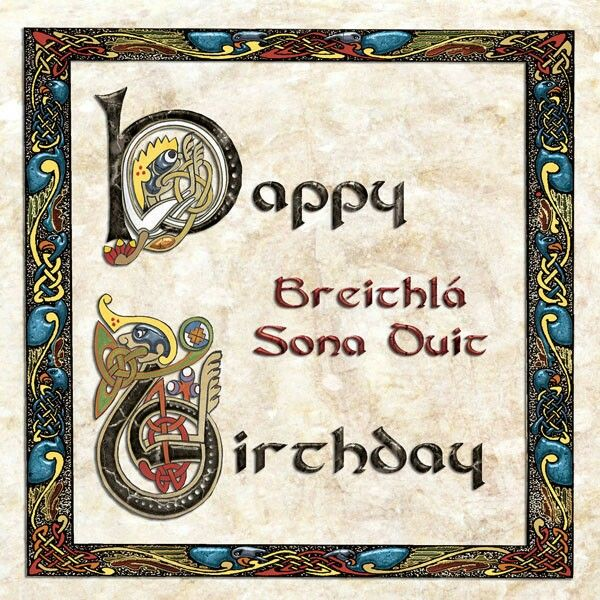 Birthday Kelten Keltisch Geburtstag