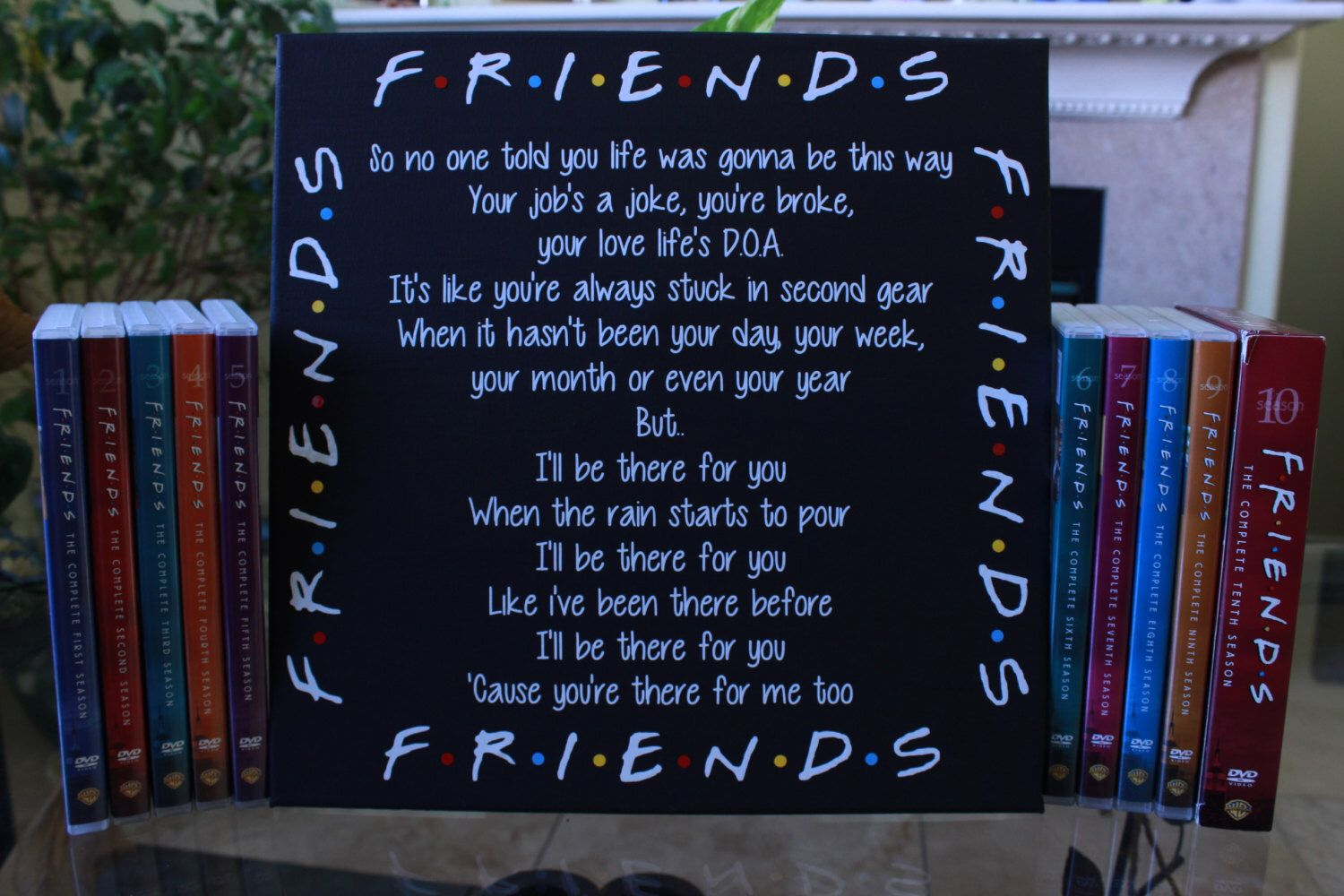 Friends Tv Show Canvas I Ll Be There For You Theme Song