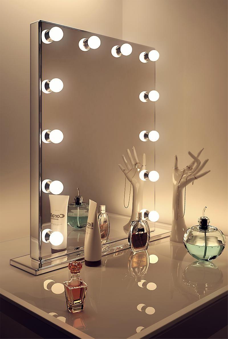 Diamond X Spegel Finish Hollywood Makeup Spegel Dimbar Led H252 Spegel Sminkspegel Med Belysning Sminkspegel