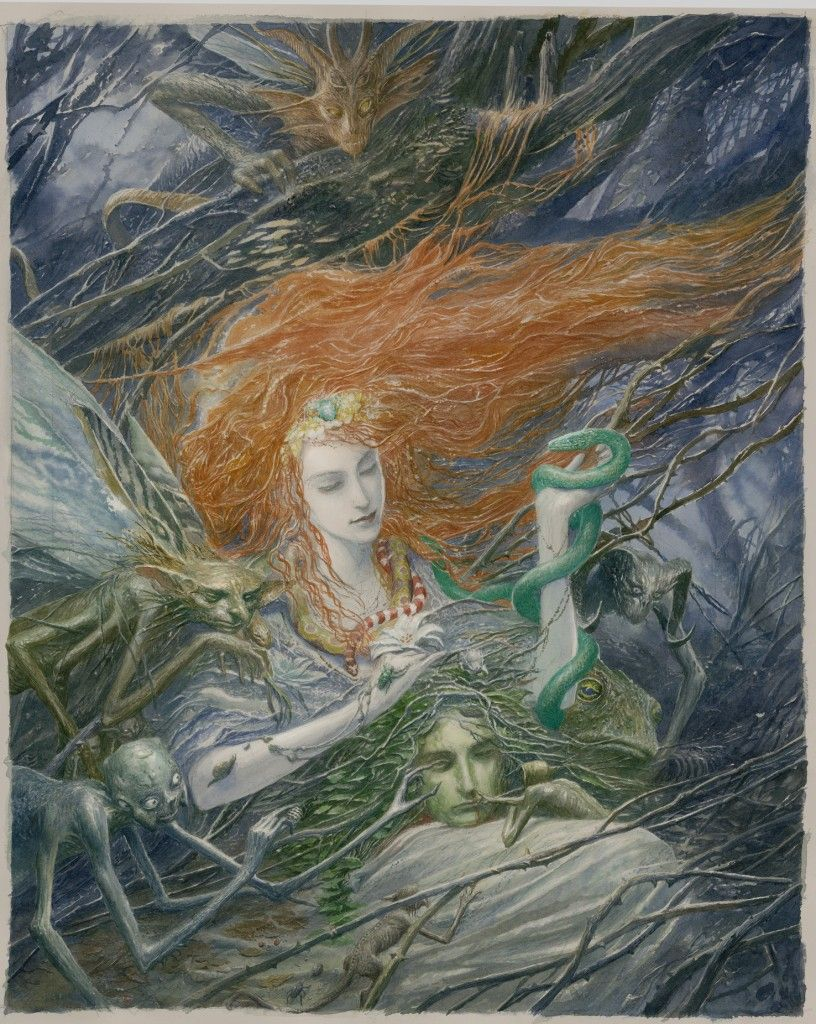 cover by Alan Lee for Fearie Tales: Stories of the Grimm and Gruesome