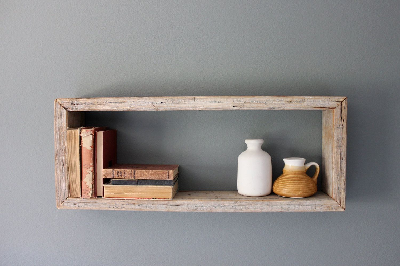 Rustic Wood Box Shelf By Houseinhabit On Etsy Etagere Rustique Etagere Bois Boite En Bois