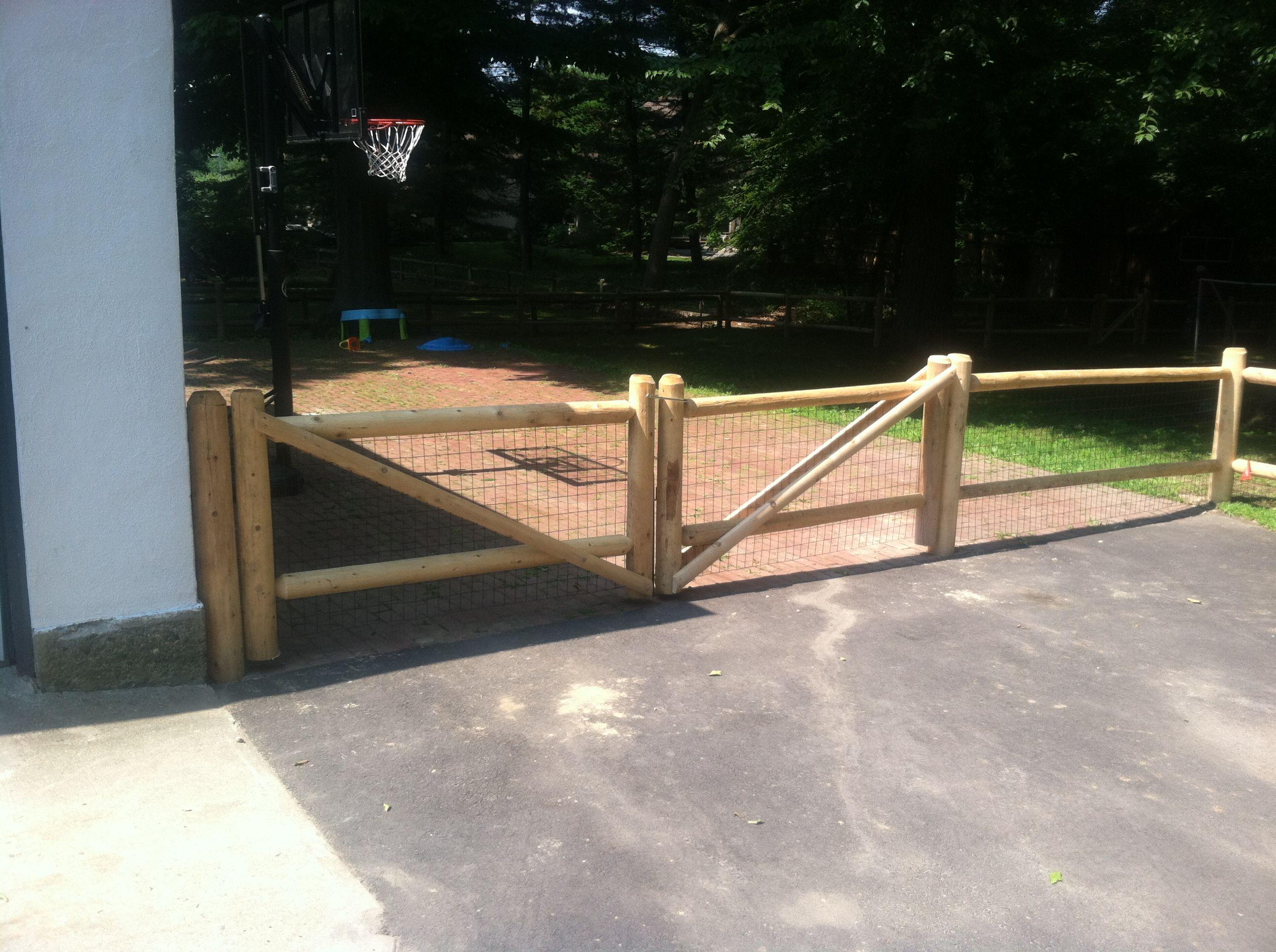 2 Rail Highlander Fence Round Cedar Posts Round Dowel