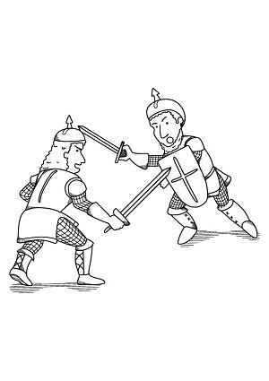 Ausmalbild Kampfende Ritter Kostenlose Malvorlage Ausdrucken Ausmalbild Ausmalen Ausmalbilder Zum Ausdrucken