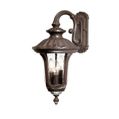 Acclaim Lighting Augusta Collection 3 Light Burled Walnut Outdoor Wall Mount Light Wall Mount Light Fixture Outdoor Wall Mounted Lighting Outdoor Wall Lantern