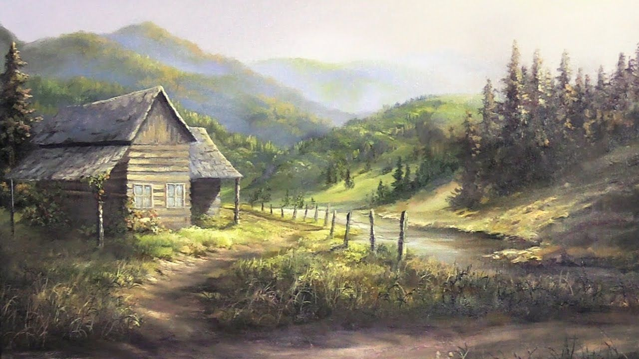 Do You Enjoy Seeing Old Wood Cabins In Nature Watch Kevin As He Shows You How To Paint This Stunn Landscape Paintings Oil Painting Nature Kevin Hill Paintings