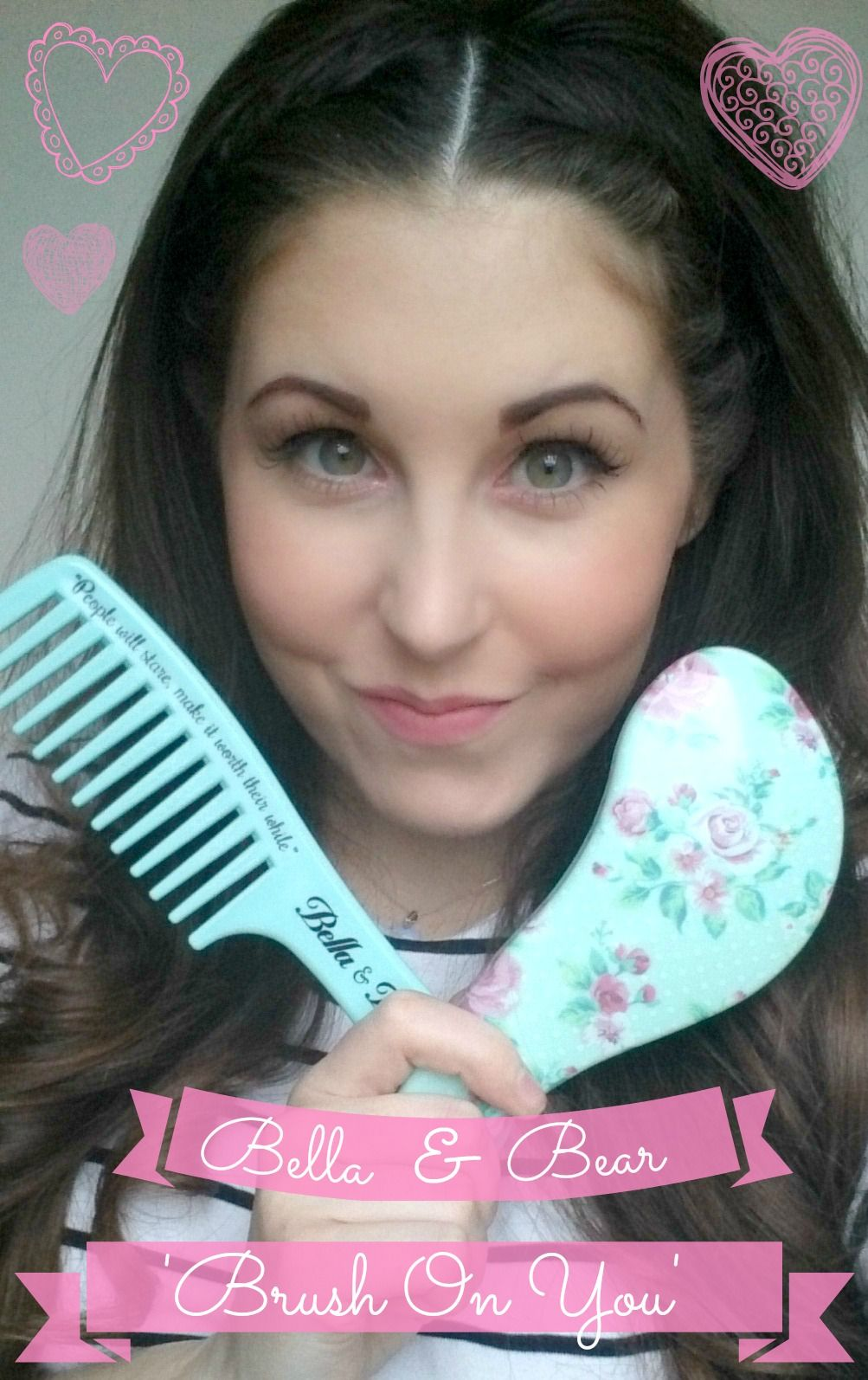 We love the 'Brush On You' detangling set! Buy it in our stores now! #hair #hairbrush #vintage #floral #bbloggers