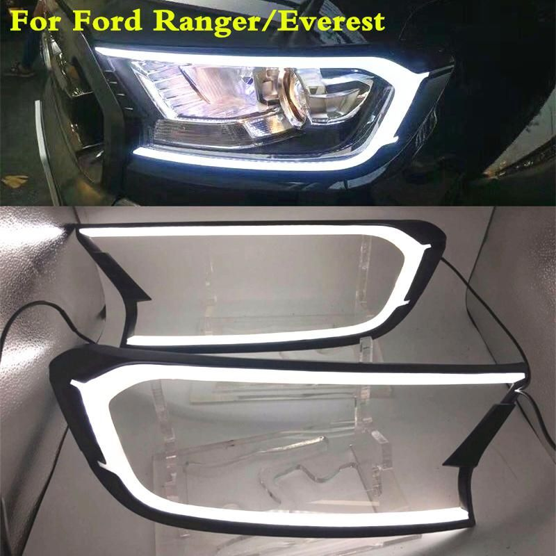 Led Drl For Ford Ranger Everest Light Brow Car Light Headlamp
