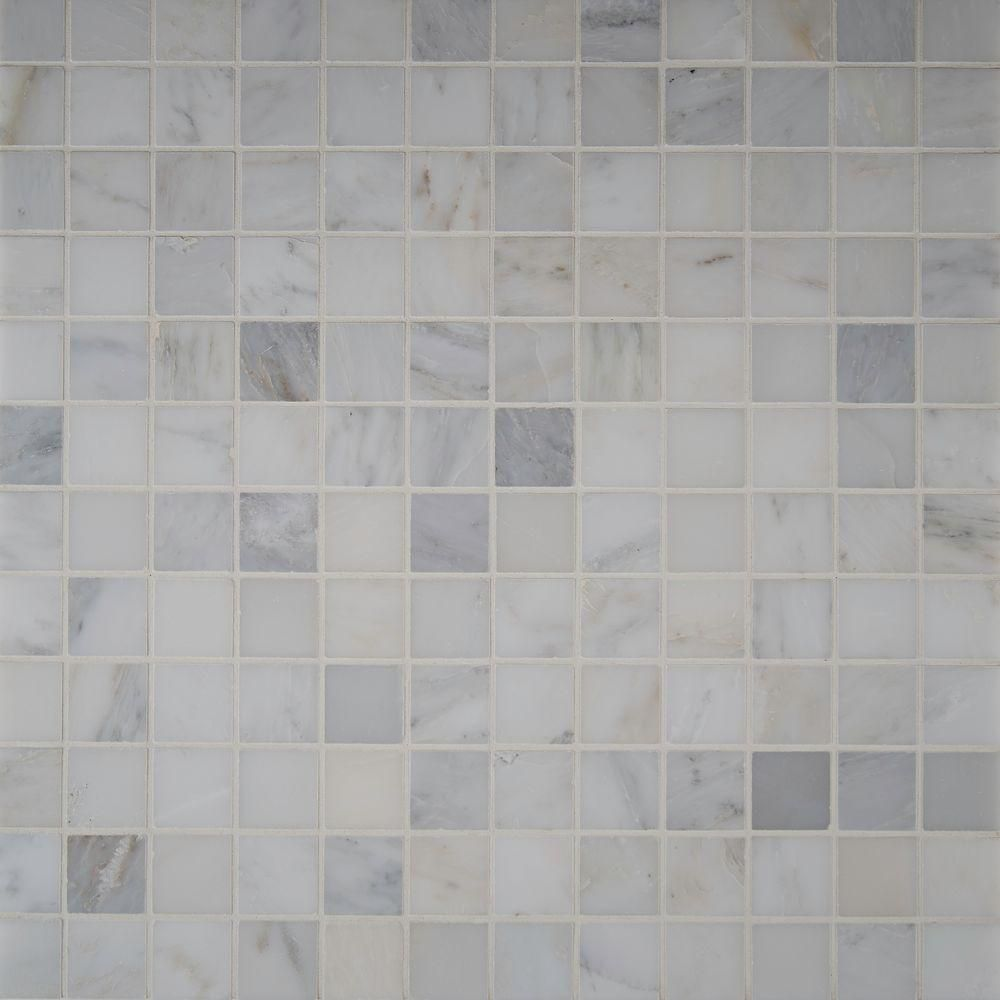 Msi Greecian White 12 In X 12 In X 10 Mm Polished Marble Mesh Mounted Mosaic Tile 1 Sq Ft Thdw1 Sh Gw2x2 With Images Mosaic Tiles Tiles Polished Marble Tiles