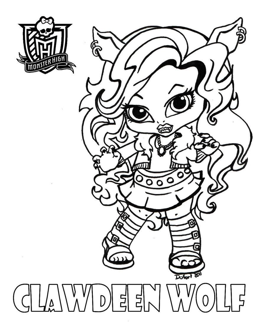 Baby Clawdeen by *JadeDragonne on deviantART | Coloring the Media ...