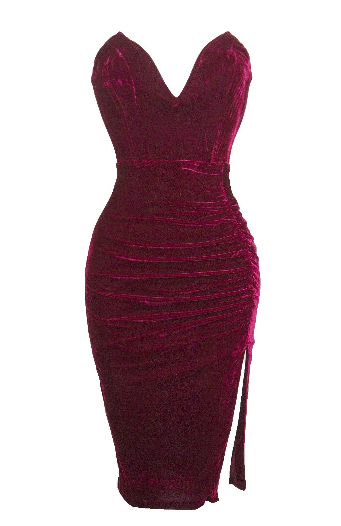 37de35d4b3c2d Red Velvet Sweetheart Ruched Dress - Dresses   Special occasions ...