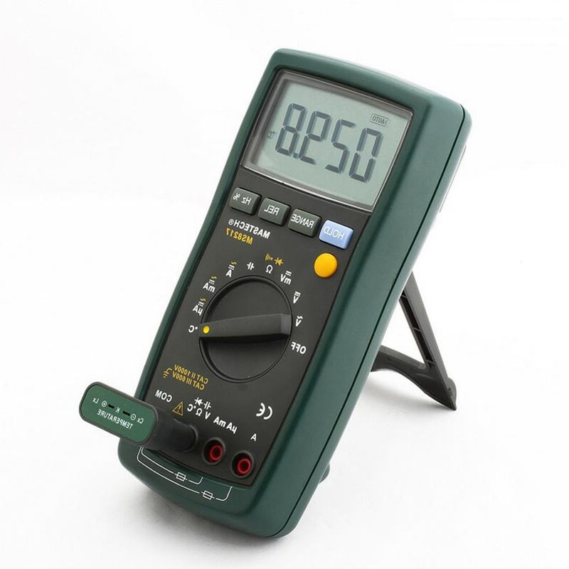 31.49$  Watch here - http://alihs2.worldwells.pw/go.php?t=32653209759 - 1pcs MASTECH MS8217 Digital Multimeter Meter AC/DC Voltage Current Resistance Capacitance Tester with Temperature Measurement 31.49$