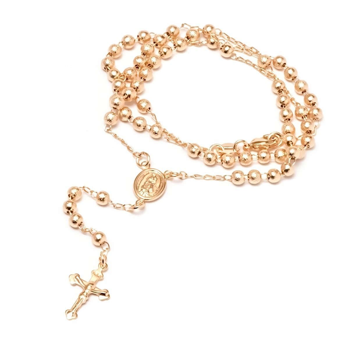 Peermont jewelry k yellow gold plated gold virgin mary rosary