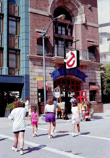 Ghostbusters Firehouse At Universal Florida With Parking Sign Universal Orlando Resort Universal Studios Orlando Orlando Theme Parks