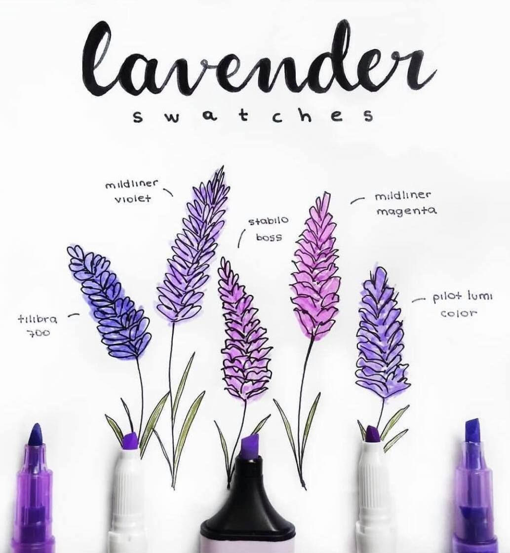 How To Draw Lavender Lavender Doodles By Ig Journal Junkies Bullet Journal Art Bullet Journal Inspiration Bullet Journal Aesthetic