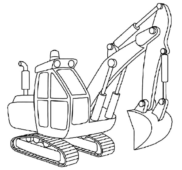 How To Draw Excavator Coloring Pages Download & Print