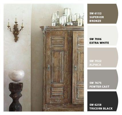 Sherwin Williams Alpaca Perfect Gray Color Color Palette