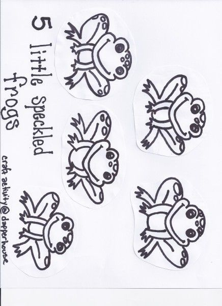 5 little speckled frogs activity craft free printable