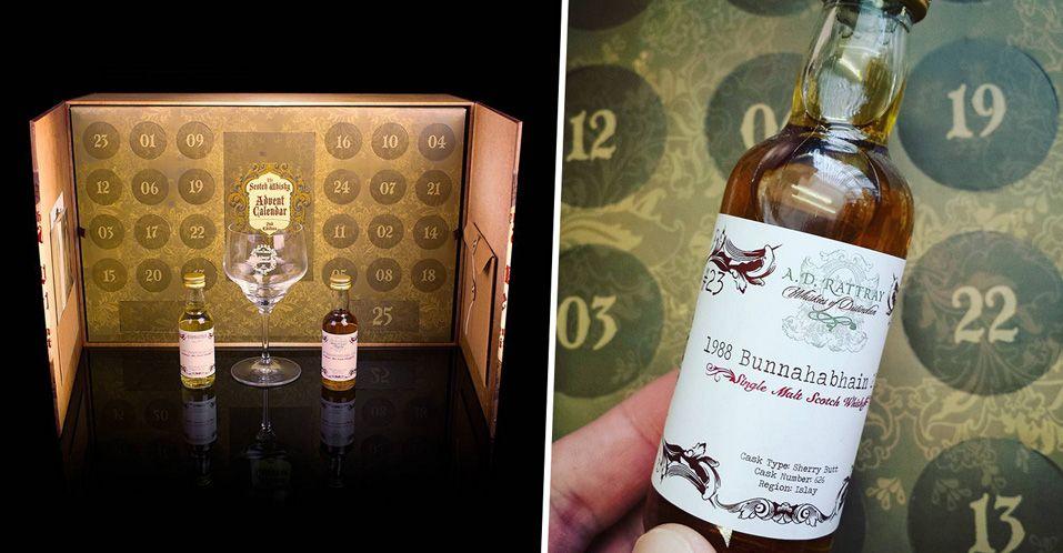 Un calendrier de l'avent spécial Whisky avec 25 saveurs différentes pour attendre Noël