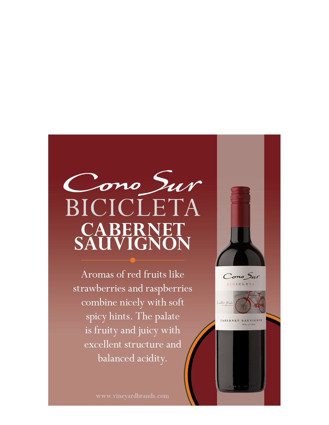 Cono Sur Bicicleta Cabernet Sauvignon Rose Wine Bottle Wine Bottle Bottle