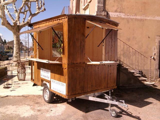 photo vente ambulante roulotte de marche image 1 3 design de food truck remorque alimentaire bar a soupe