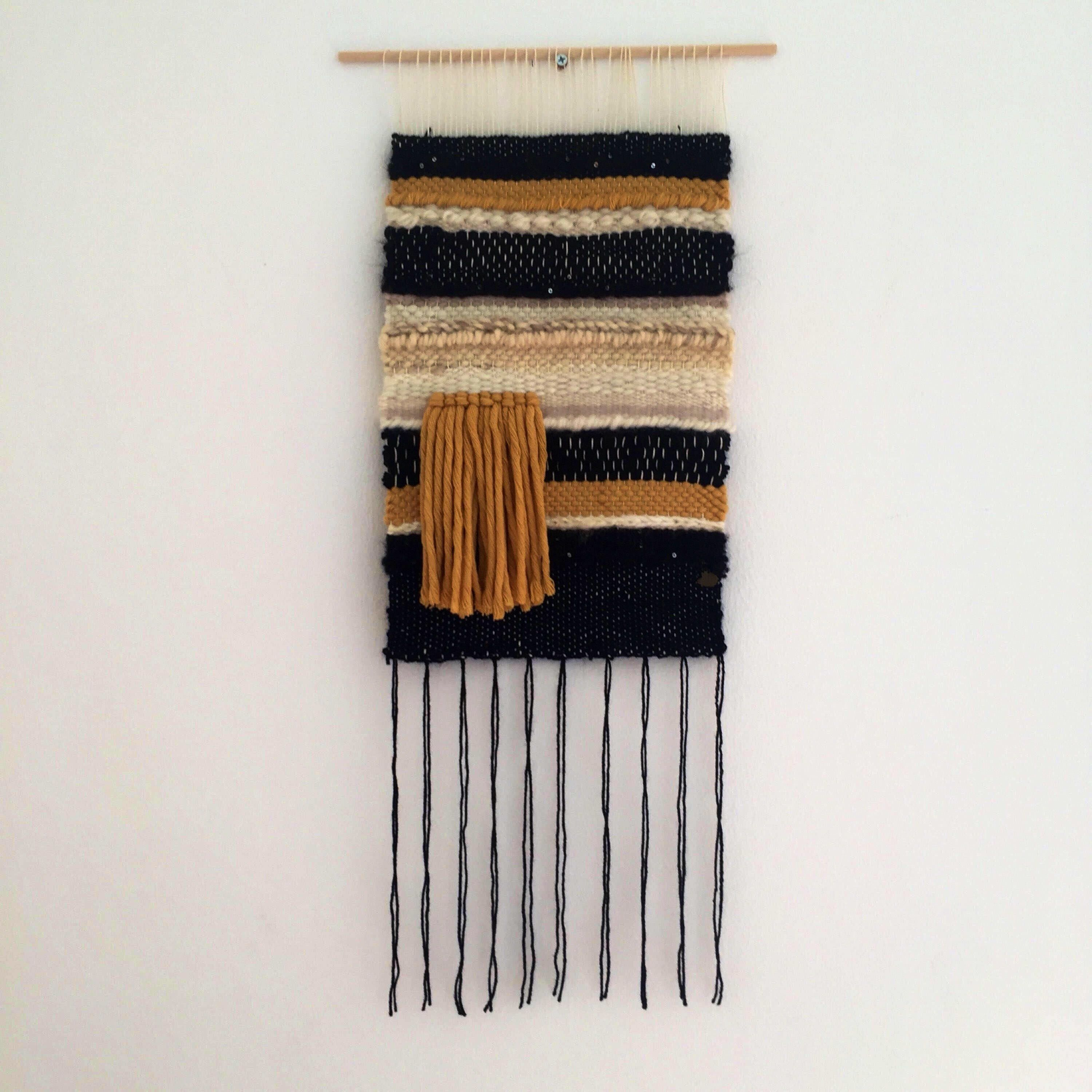 Items Similar To Mustard I  Woven Wall Hanging
