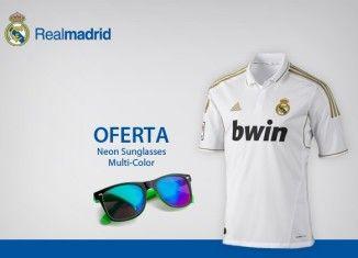 5a8394fdd2e43 Desconto Camisola Oficial do Real Madrid com Oferta Óculos de Sol ...