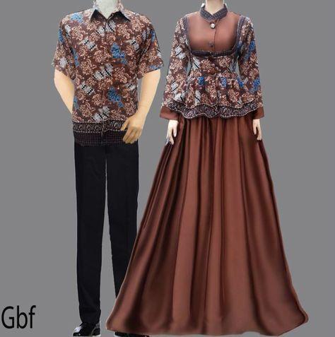 Model Gamis Cantik Baju Gamis Batik Sarimbit Coklat My Wonderful