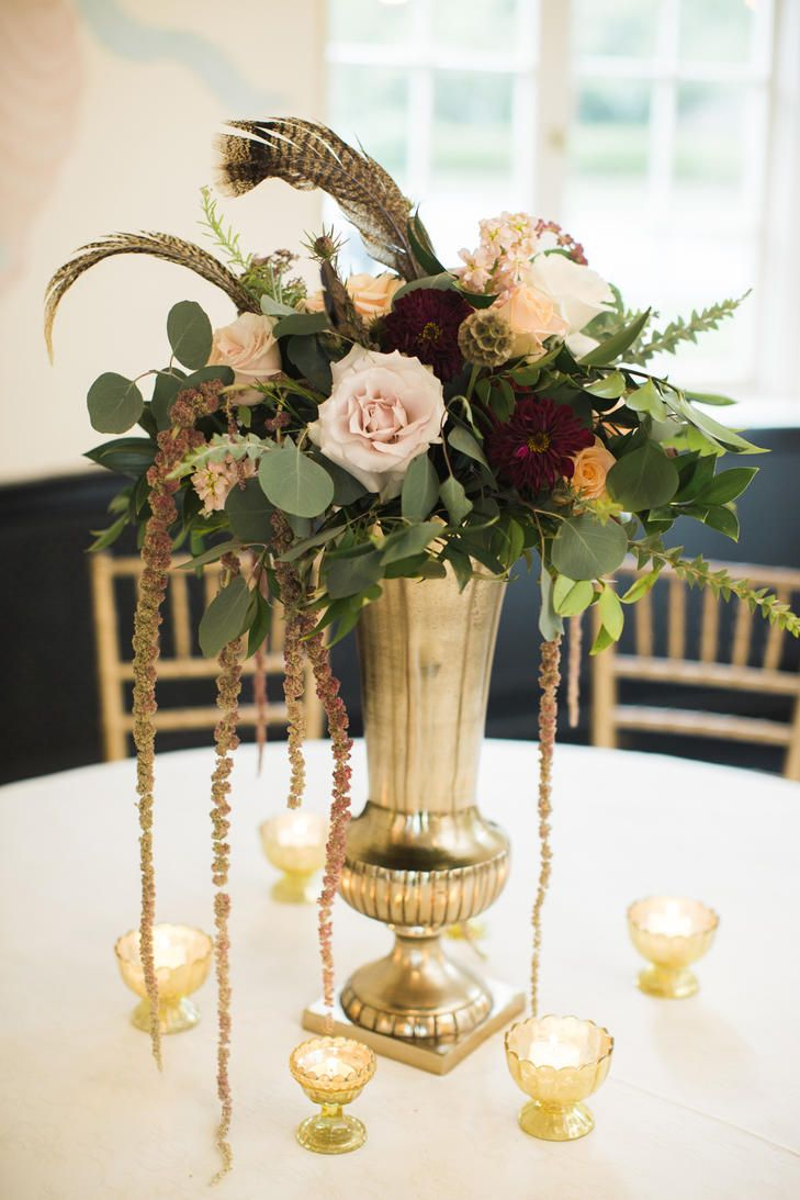 Floral Arrangements Ideas Feather And Loose Floral Arrangement Centerpieces Centerpieces