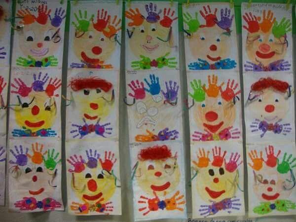 Pin by maria schwandner on malen pinterest fasching fasching im kindergarten and clowns - Clown basteln kindergarten ...