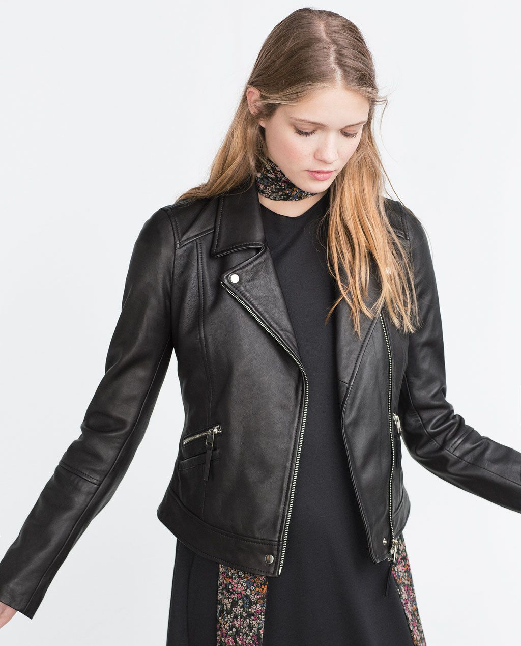 LEATHER BIKER JACKETView allPremiumWOMAN ZARA United