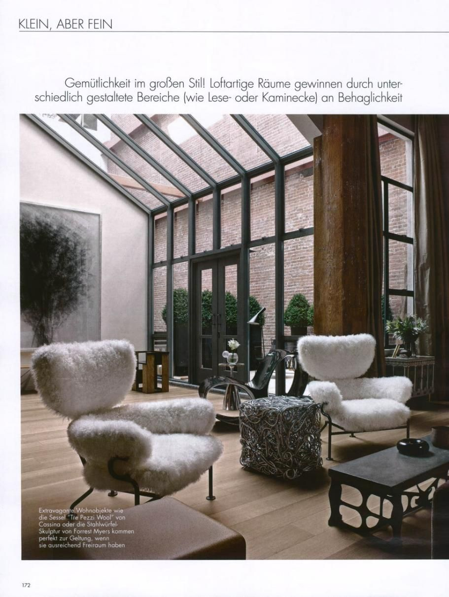 elle decoration germany black tre pezzi wool design franco albini. Black Bedroom Furniture Sets. Home Design Ideas