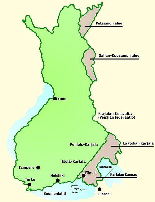 Suomen Kartta Ennen Sotaa