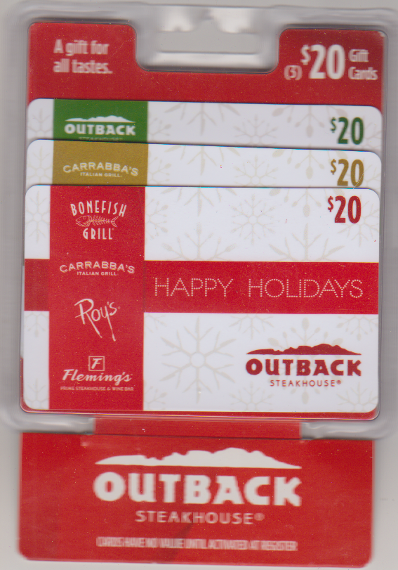 Outback Steakhouse 3 pack