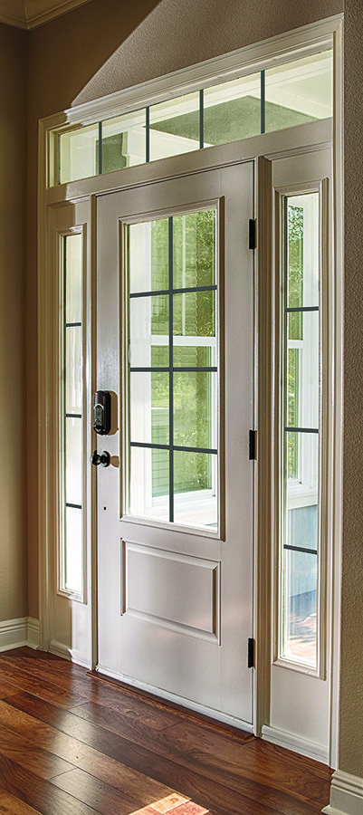 Therma Tru Grilles Between Glass, In Bronze, Smooth Star Door, Sidelites,