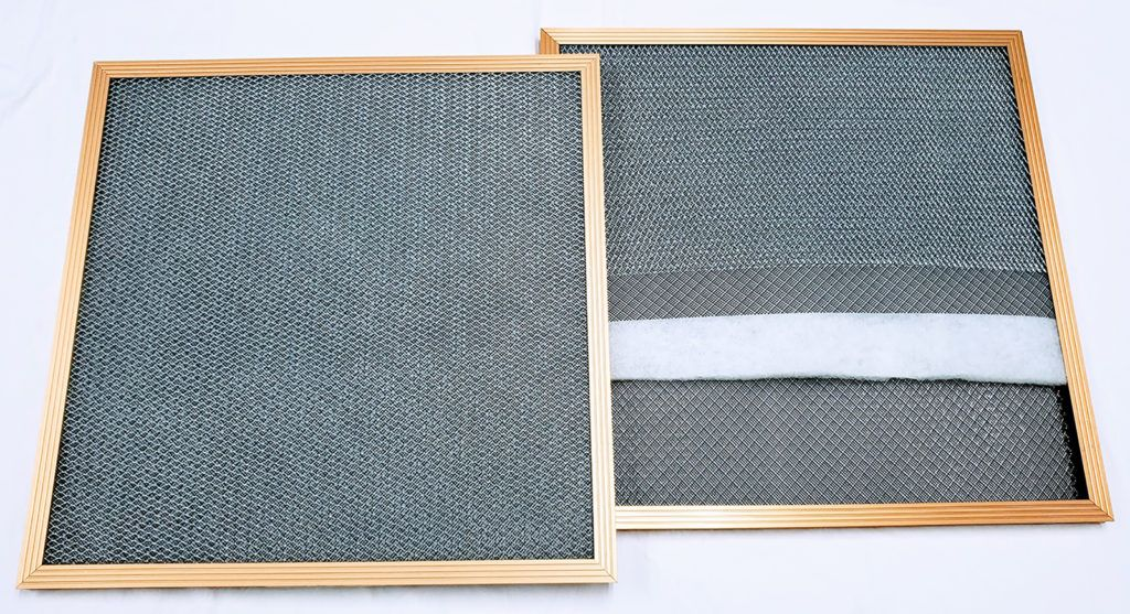 Gold Frame Filters Standard Sizes Electrostatic air