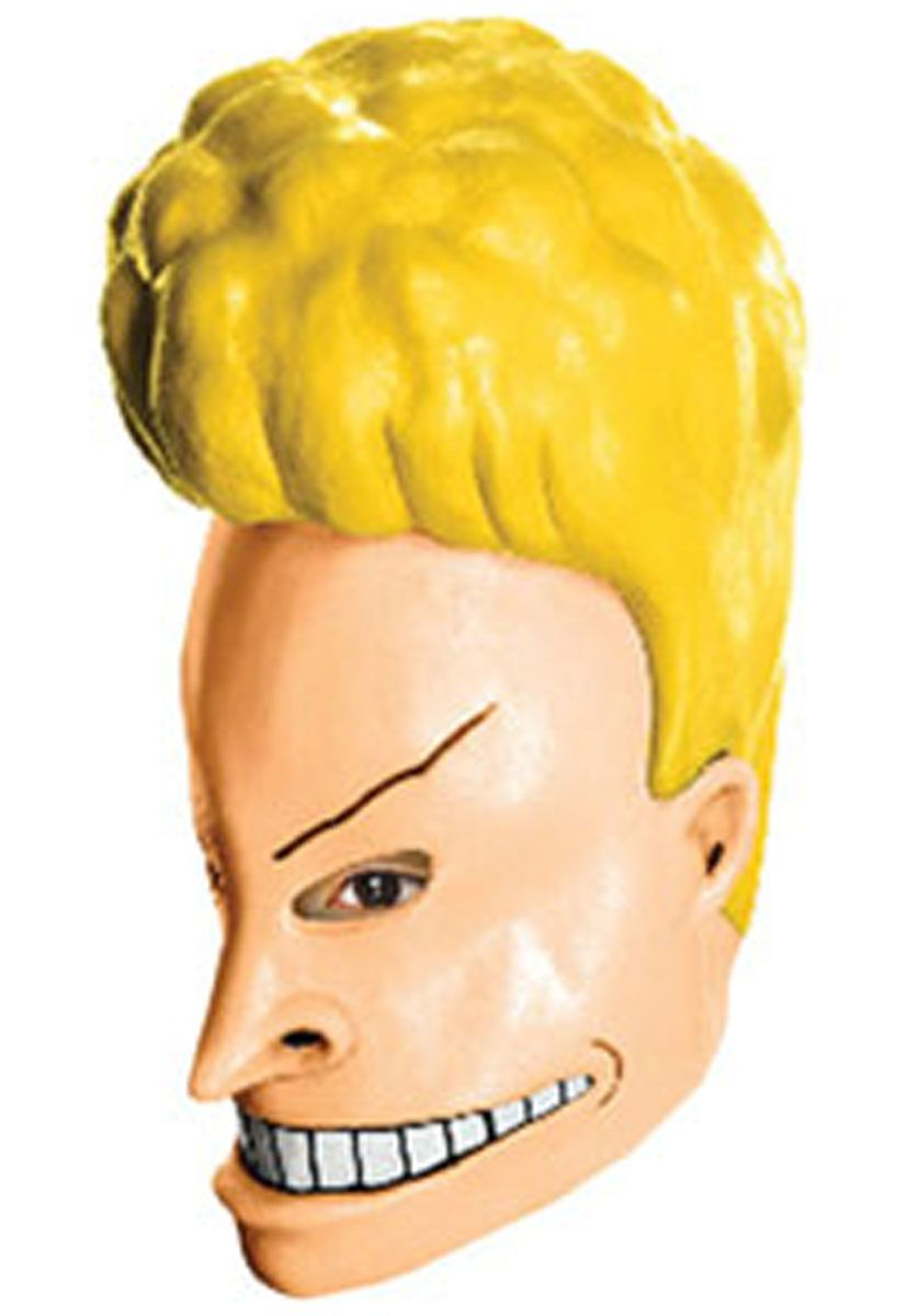 deluxe beavis latex mask - beavis and butthead - famous character