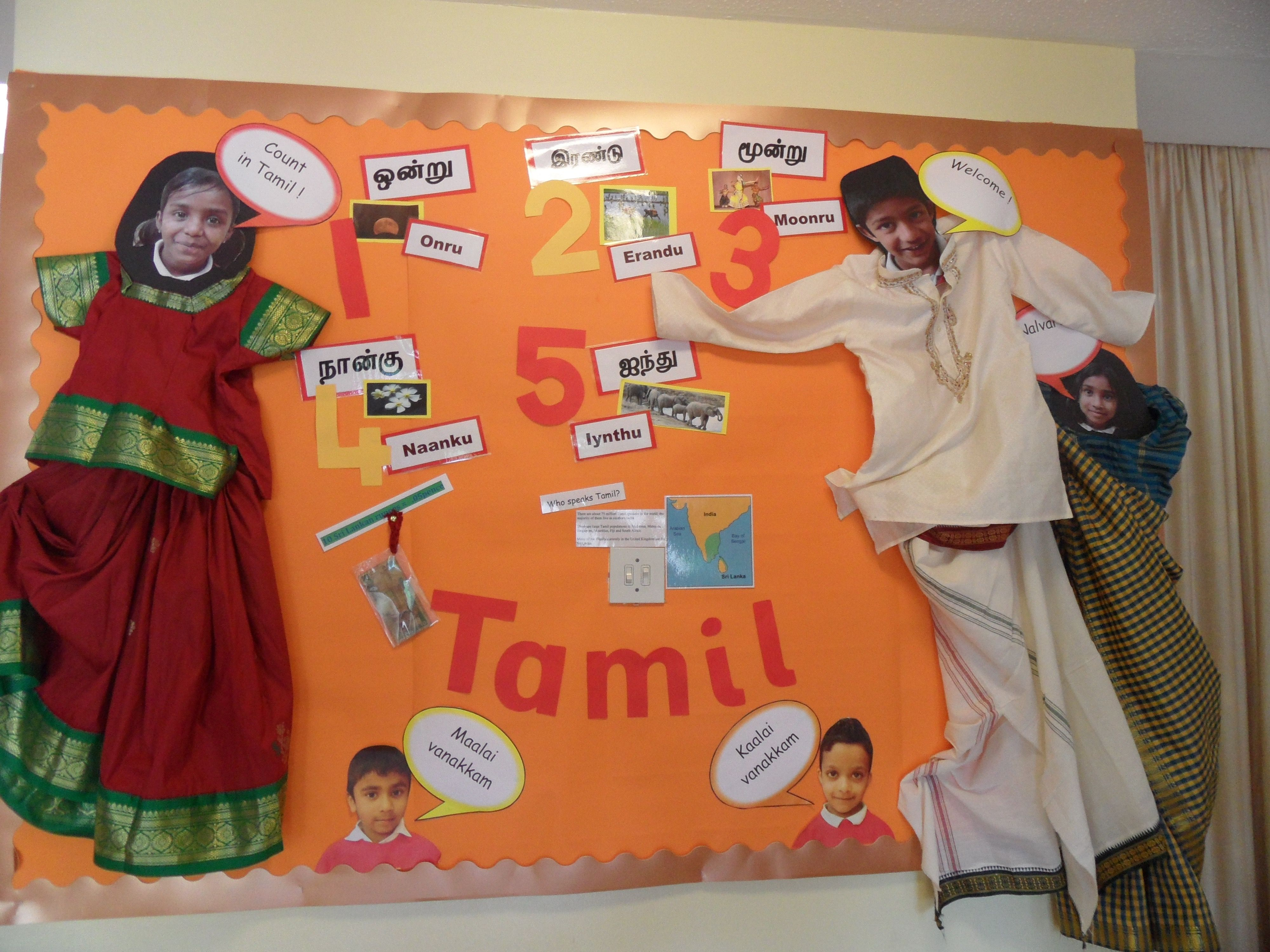Language Of The Term Tamil Display Classroom Word Wall